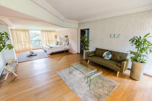 HABITACION : Habitaciones de estilo moderno por Aluzina