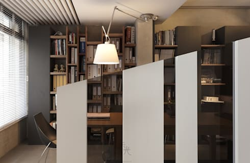 寓生活於工作中:  走廊 & 玄關 by 禾光室內裝修設計 ─ Her Guang Design