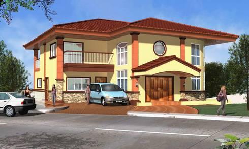 Ayala Westgrove Residence:  Single family home by AIM Architects