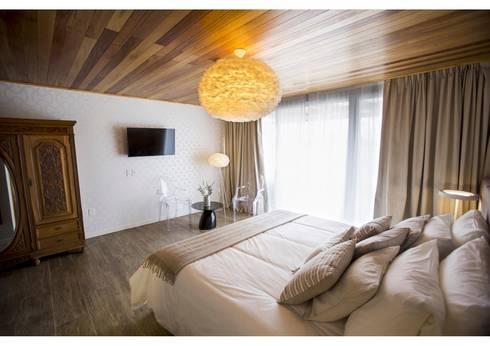 Habitación tipo: Habitaciones de estilo moderno por MSA Arquitectos