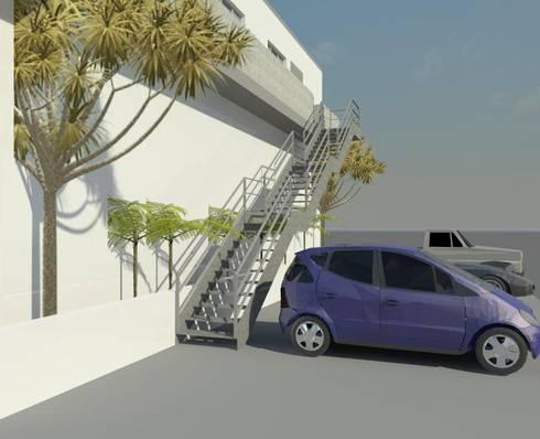 Escalera render 3D: Escaleras de estilo  por Cosmoservicios SAS