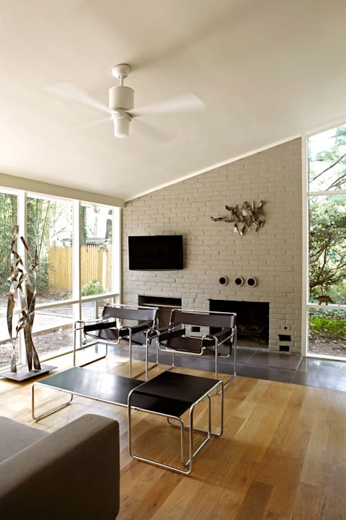 Architects Modern: modern Living room by KUBE Architecture