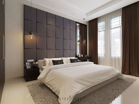 Headboard:   by INTERIORES - Interior Consultant & Build