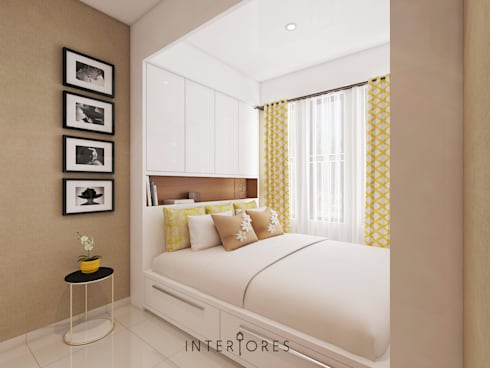 Bed View:   by INTERIORES - Interior Consultant & Build