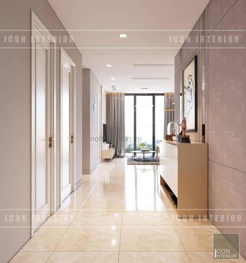 Thiết kế nội thất phong cách hiện đại thanh lịch và thân thiện:  Cửa ra vào by ICON INTERIOR