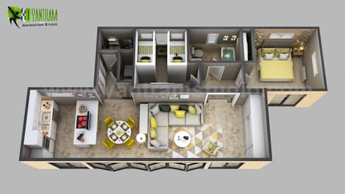 3d House Floor Plan Designs, Ideas, Images By Yantram 3d Animation Studio U2013  Atlanta, USA