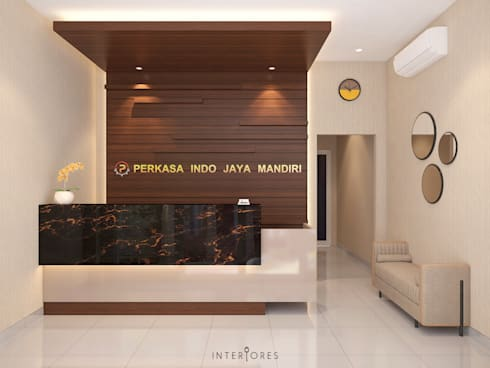 Reception Area (Front):   by INTERIORES - Interior Consultant & Build