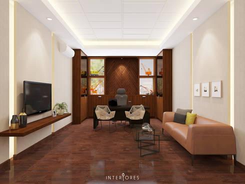 Director's Room:   by INTERIORES - Interior Consultant & Build
