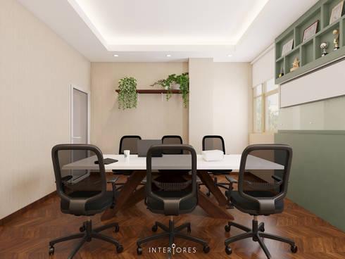 Meeting Room:   by INTERIORES - Interior Consultant & Build
