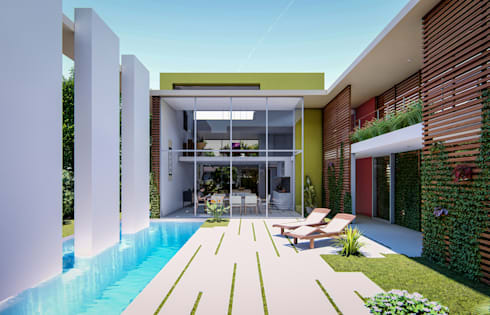 Fort Lauderdale: modern Pool by Fernandez Architecture