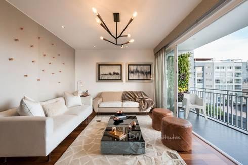 SALA: Salas/Recibidores de estilo moderno por DMS Arquitectas