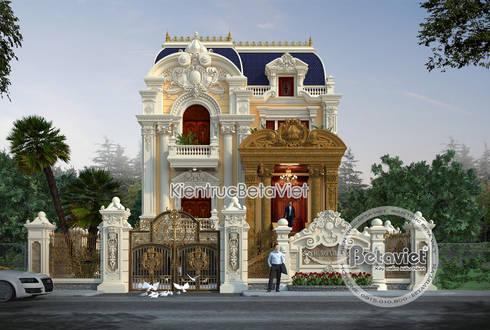 Phối cảnh mẫu dinh thự đẹp 3 tầng Cổ điển hoành tráng (CĐT: Ông Hùng - Quảng Ninh) KT18018:   by Công Ty CP Kiến Trúc và Xây Dựng Betaviet