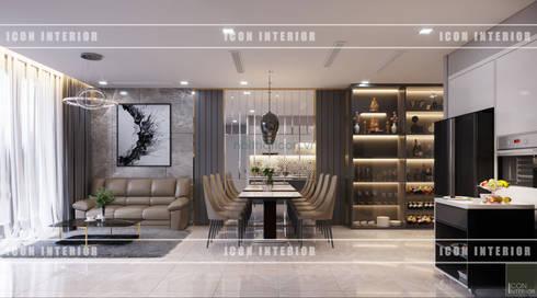THIẾT KẾ CĂN HỘ VINHOMES NHẸ NHÀNG, TINH TẾ cùng ICON INTERIOR:  Phòng ăn by ICON INTERIOR