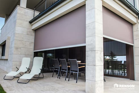 Sun Protection Screens:  Shutters by Atria Designs Inc.