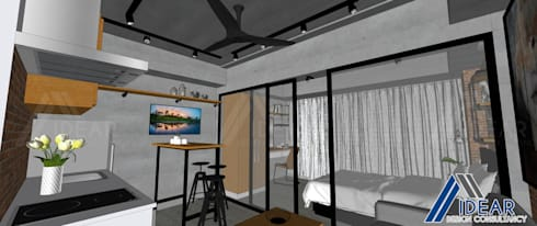 Rustic Vibe at Azure Urban Residences, Paranaque City: rustic Living room by Idear Architectural Design Consultancy