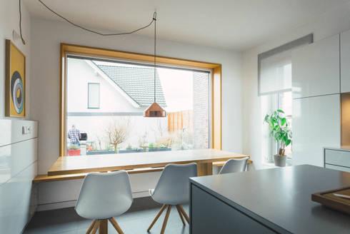 Essplatz in der Küche:  Einbauküche von Klocke Möbelwerkstätte GmbH