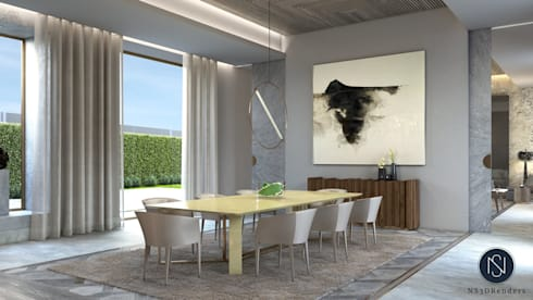 Isabel Interiors Residential : modern Dining room by Ns3drenders