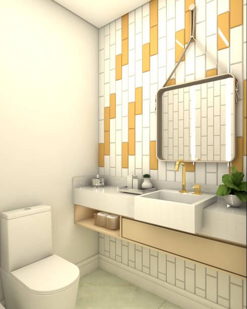 Lavabo Moderno - 01: Edifícios comerciais  por Laryssa S. Pereira - Arquitetura e Interiores