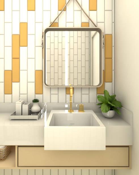 Lavabo Moderno - 02: Espaços comerciais  por Laryssa S. Pereira - Arquitetura e Interiores