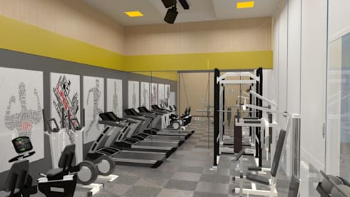 Gym:   by IDeal Spaces