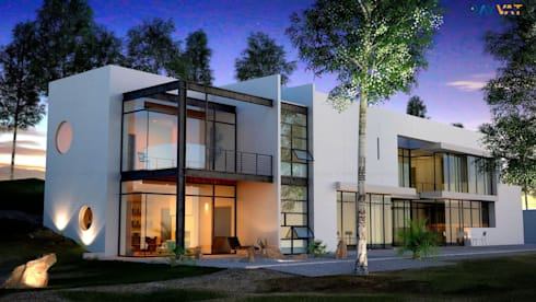 3D Exterior Home Design:   by Rayvat Rendering Studio