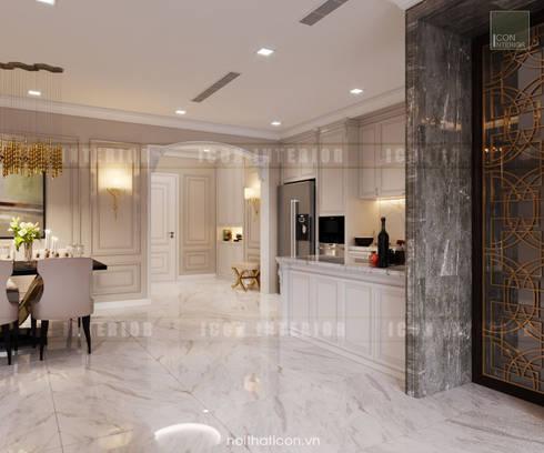 Thiết kế nội thất phong cách Tân Cổ Điển: Nội thất chất lượng – Cuộc sống đẳng cấp:  Nhà bếp by ICON INTERIOR