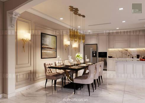 Thiết kế nội thất phong cách Tân Cổ Điển: Nội thất chất lượng – Cuộc sống đẳng cấp:  Phòng ăn by ICON INTERIOR
