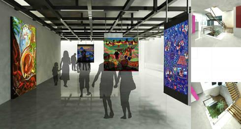 SALAS DE CENTRO DE INTERPRETACIÓN - CULTURAL- IQUITOS -PERU: Centros de exhibición de estilo  por NATIVAARQUITECTOS E.I.R.L