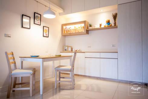 氧氣:  餐廳 by 酒窩設計 Dimple Interior Design