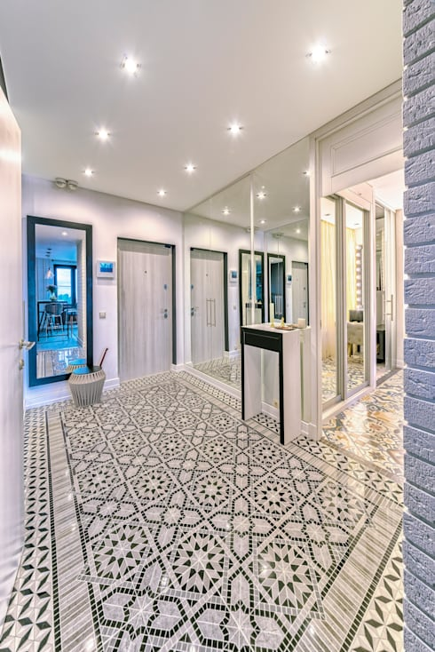 Corridor & hallway by Архитектурная мастерская ПРОЕКТУС