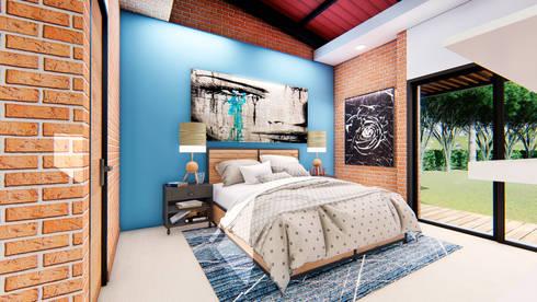 Casa Villa Real: Habitaciones de estilo moderno por Conceptual Studio ARQUITECTUR