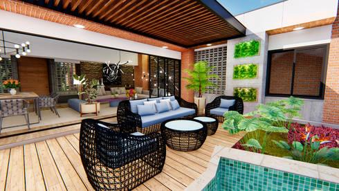 Casa Villa Real: Salas de estilo moderno por Conceptual Studio ARQUITECTUR