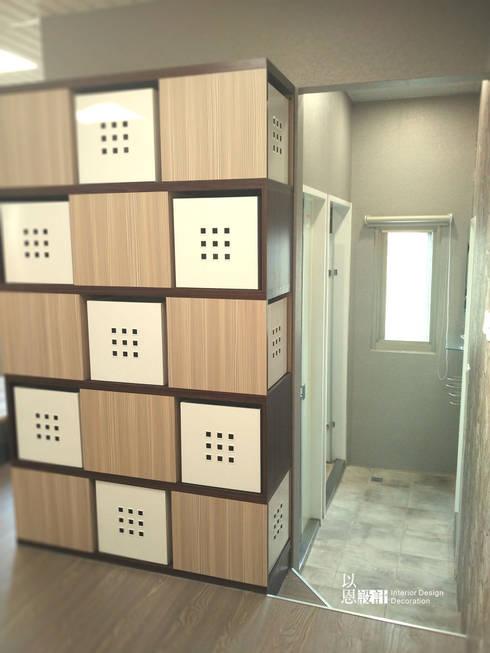 改造後往淋浴區入口:  浴室 by 以恩設計
