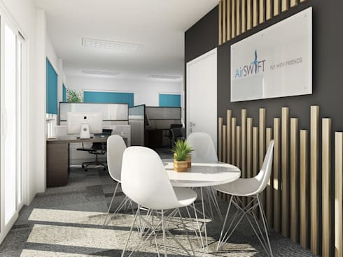 Airline Office: modern Study/office by KC INTERIORS