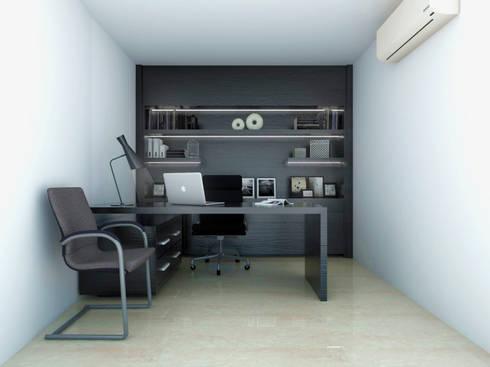 Admin Office: modern Study/office by KC INTERIORS