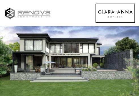 Artists Rendering - House JM, Clara Anna Fontein:   by Renov8 CONSTRUCTION
