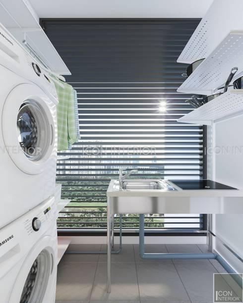 NGÔI NHÀ NUÔI DƯỠNG TÌNH YÊU - Thiết kế căn hộ ấn tượng tại Vinhomes Central Park:  Hành lang by ICON INTERIOR