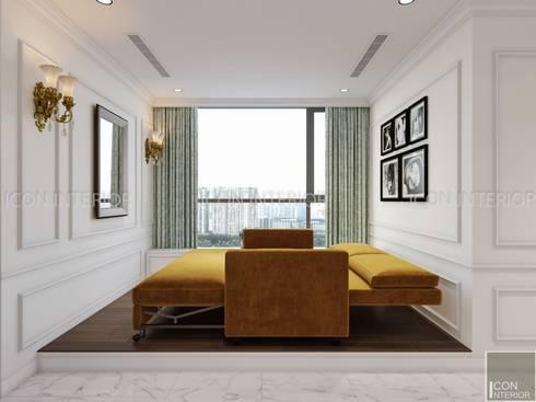 NGÔI NHÀ NUÔI DƯỠNG TÌNH YÊU – Thiết kế căn hộ ấn tượng tại Vinhomes Central Park:  Phòng giải trí by ICON INTERIOR