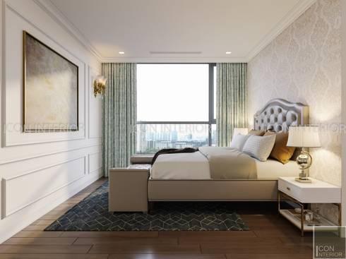 NGÔI NHÀ NUÔI DƯỠNG TÌNH YÊU – Thiết kế căn hộ ấn tượng tại Vinhomes Central Park:  Phòng ngủ by ICON INTERIOR
