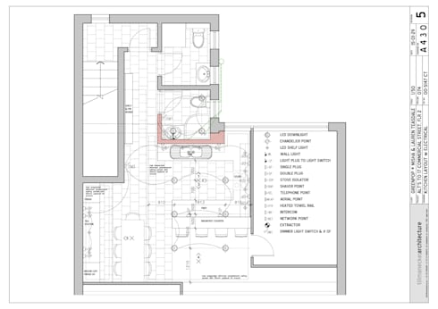 architectural plan: modern Kitchen by Till Manecke:Architect