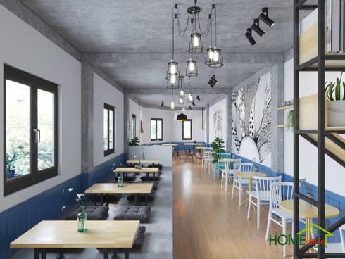 Mẫu thiết kế quán trà sữa đa dạng và hiện đại:  Cầu thang by Home Office