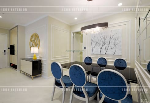 Phong cách Tân Cổ Điển trong thiết kế nội thất căn hộ Vinhomes Central Park:  Phòng ăn by ICON INTERIOR