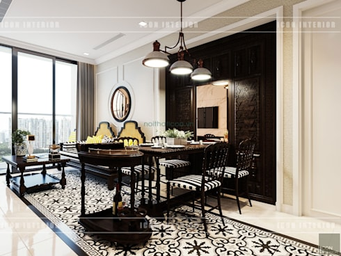 Thiết kế căn hộ Vinhomes Golden River – Phong cách thiết kế mang tiếng vọng xưa:  Phòng ăn by ICON INTERIOR