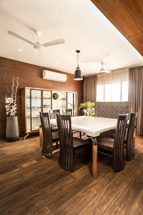 dining area:  Dining room by Design Paradigm