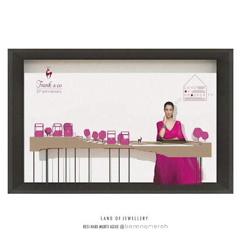 Frank n Co Window Display Design:   by Studio Benang Merah