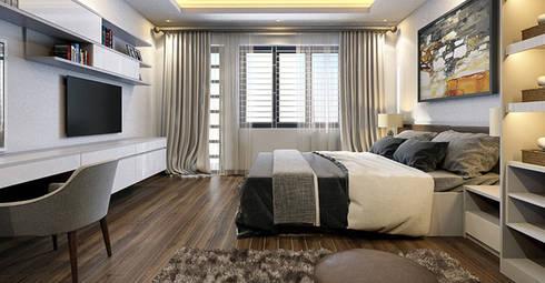Bàn làm việc đặt trong phòng ngủ:   by Thương hiệu Nội Thất Hoàn Mỹ