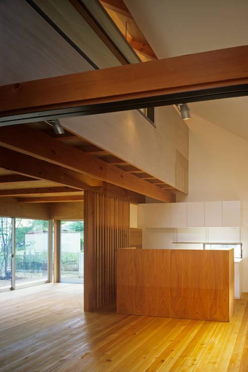 南庭の家 / House in Kobe: 杉山圭一建築設計が手掛けたリビングです。