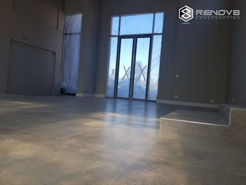 Showroom nearing completion:   by Renov8 CONSTRUCTION