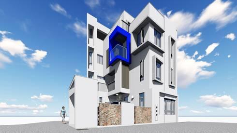 頭份徐宅 圍牆設計:  房子 by 曾聖傑建築師事務所