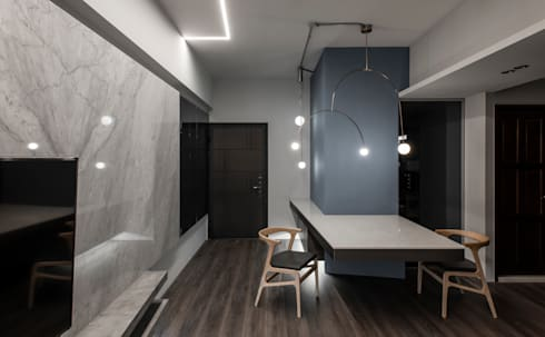 Entrance / Dining area:  走廊 & 玄關 by 湜湜空間設計